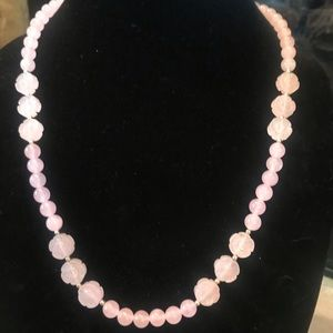 14k Pink Jade Necklaces